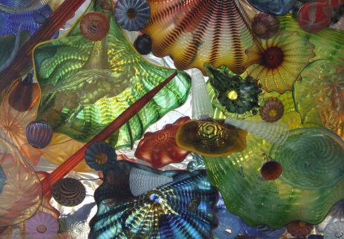 Part of ceiling on Glass Bridge by Dale Chihualy